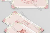 Small Fresh Hand-Drawn Floral Invitation Event Invitation pertaining to Small Greeting Card Template