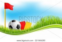 Soccer Football Game Vector & Photo (Free Trial) | Bigstock pertaining to Football Referee Game Card Template