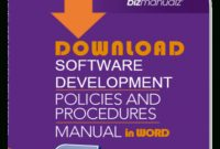 Software Development Manual | Abr226Dwd with Small Business Policy And Procedures Manual Template
