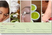 Spa Day Gift Certificate Template throughout Spa Day Gift Certificate Template