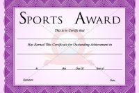 Sports Certificate Template | Certificate Templates, Award throughout Sports Award Certificate Template Word