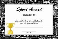 Sports Certificate Templates | Certificate Template Downloads regarding Sports Award Certificate Template Word