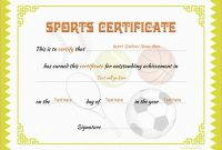 Sports Certificates | Certificate Templates, Certificate Of throughout Sports Award Certificate Template Word