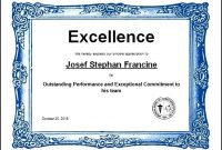 Sports Excellence Award Certificate Template In Word pertaining to Sports Award Certificate Template Word
