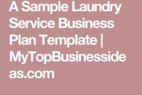 Starting A Laundry From Home – Sample Business Plan Template pertaining to Free Laundromat Business Plan Template