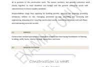 Strategic Business Plan Template For Construction Free Download intended for Free Construction Business Plan Template