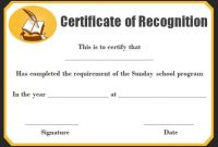 Sunday School Certificate Template: 17+ Specialized intended for Certificate Templates For School