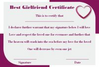 Surprise Your Girlfriend Using These 16+ Best Girlfriend in Love Certificate Templates