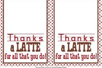 Sweet Metel Moments: Free Printable – Teacher Appreciation with Thanks A Latte Card Template