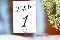 Table Numbers Printable 1-40 Template In Two Sizes, Wedding regarding Table Number Cards Template