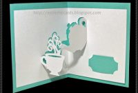 Teapot And Cup Pop-Up Card Free Paper Craft Template Download with Templates For Pop Up Cards Free