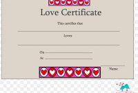 Template Love Romance Résumé Academic Certificate, Png regarding Love Certificate Templates
