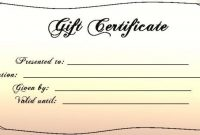 Templates For Gift Certificates Free Downloads Intended For regarding Custom Gift Certificate Template