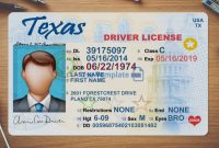 Texas Driver License Template Psd: High Quality Driving intended for Texas Id Card Template