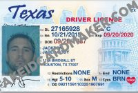 Texas Fake Drivers License Virtual – Fake Id Card Maker with Texas Id Card Template