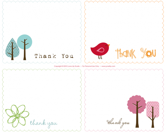 Thank You Notes – A Quick Round Up | Free Printable Card intended for Thank You Note Card Template