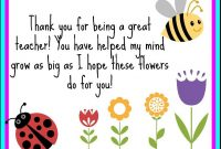 Thank You Printable For Teachers! | Lehrerkarten, Gedicht inside Thank You Card For Teacher Template