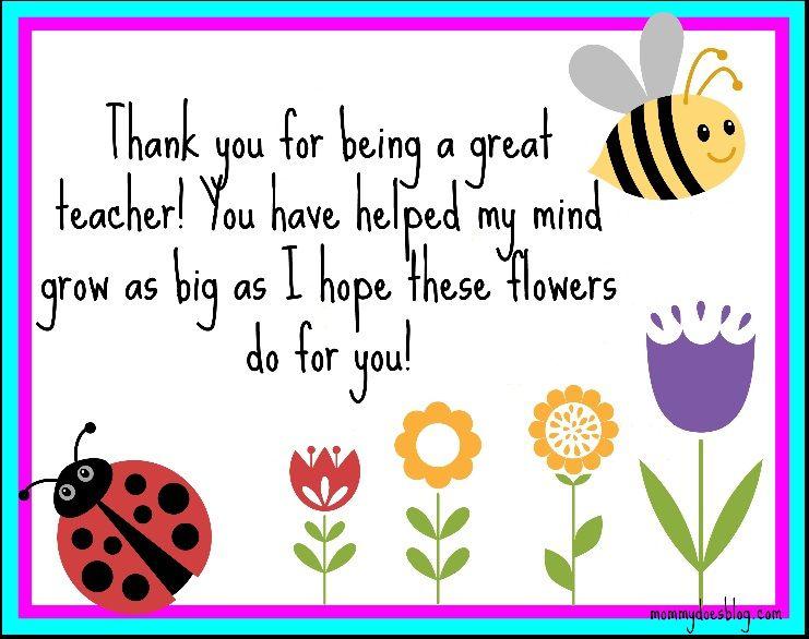 Thank You Printable For Teachers! | Lehrerkarten, Gedicht inside Thank You Card For Teacher Template