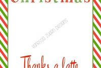 Thanks A Latte Christmas   Thanks A Latte, Starbucks Gift intended for Thanks A Latte Card Template