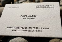 The Improved Paul Allen – Custom Letterpress Printed Calling Cards 100Ct pertaining to Paul Allen Business Card Template
