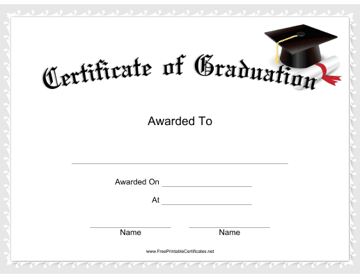 This Graduation Certificate Features A Mortarboa pertaining to 5Th Grade Graduation Certificate Template