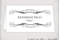 This Item Is Unavailable | Free Place Card Template, Place intended for Tent Name Card Template Word
