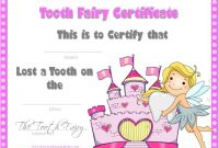 Tooth Fairy Certificate with regard to Tooth Fairy Certificate Template Free