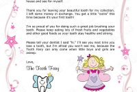 Tooth Fairy Letter – Your Child's 1St Missing Tooth (Girl throughout Tooth Fairy Certificate Template Free