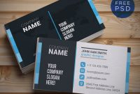 Top 28 Free Business Card Psd Mockup Templates In 2020 regarding Template Name Card Psd
