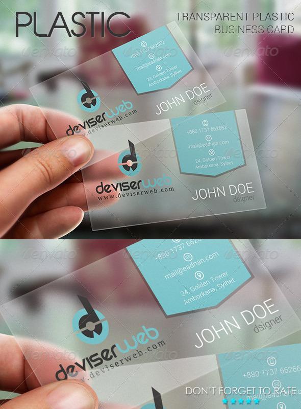 Transparent Plastic Business Card Pertaining To Transparent Business Cards Template