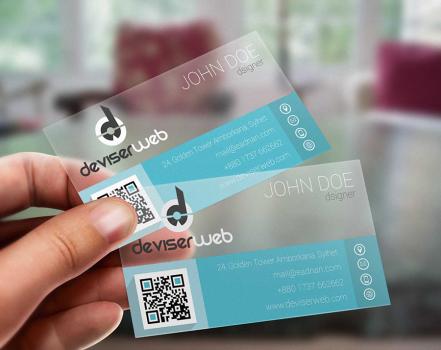 Transparent Plastic Business Card Template Psd | Kartvizit For Transparent Business Cards Template