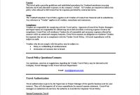 Travel Policy And Procedures Forms | Samples And Templates for Company Credit Card Policy Template