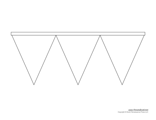 Triangle Banner Template – Tim's Printables Regarding Free Triangle Banner Template