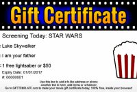 Ubuntu Corner: Movie And School Gift Certificates Intended throughout Movie Gift Certificate Template