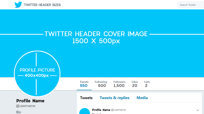 Ultimate Guide To Twitter Header Sizes With Psd Templates   inside Twitter Banner Template Psd