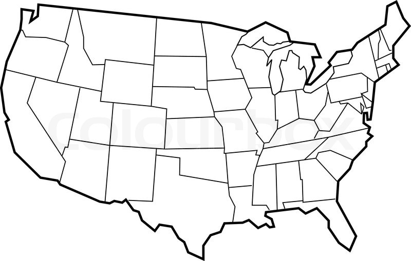 United States Map Blank throughout United States Map Template Blank