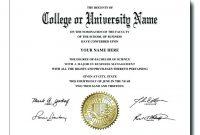 University Graduation Certificate Template (5 with regard to College Graduation Certificate Template