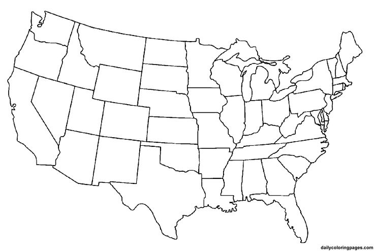 Us Map Photos Of Template Of Usa Map Usa Map With States for United States Map Template Blank