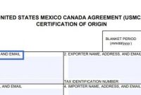 Usmca Certificate Of Origin – Sample Usmca Form & Expert for Nafta Certificate Template