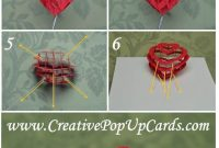 Valentine's Day Pop Up Card: 3D Heart Tutorial intended for 3D Heart Pop Up Card Template Pdf