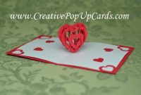 Valentine's Day Pop Up Card Tutorial: 3D Heart within 3D Heart Pop Up Card Template Pdf
