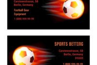 Vector Card Football Ball With Fire. Template For Football inside Football Betting Card Template