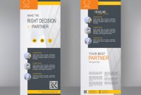 Vertikales Banner Stand Template Design | Premium-Vektor within Banner Stand Design Templates