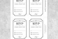 Vintage Wedding Type Rsvp Card Template intended for Template For Rsvp Cards For Wedding