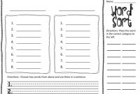 Wacky Wednesdays | Word Work, Word Sorts, Word Work Stations regarding Words Their Way Blank Sort Template