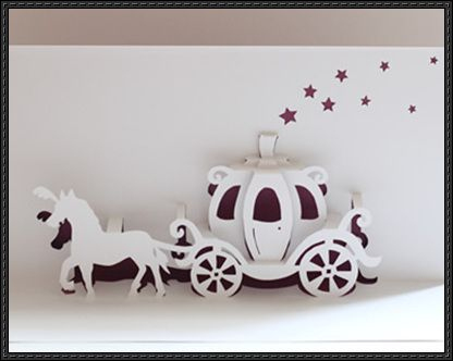 Walt Disney Cinderella Carriage Pop Up Card Free Paper Craft Intended For Templates For Pop Up Cards Free