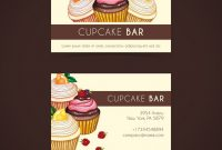Watercolor Cupcake Business Card Template | Free Vector with regard to Cake Business Cards Templates Free
