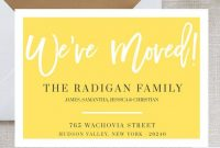 We Moved Card Template Moving Announcement Card pertaining to Free Moving House Cards Templates