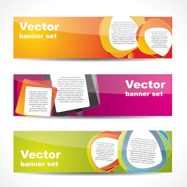 Web Banner Templates Shiny Colorful Modern Decor Free Vector Pertaining To Free Website Banner Templates Download