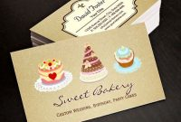Wedding Birthday Cakes Business Card Template | Bakery intended for Cake Business Cards Templates Free